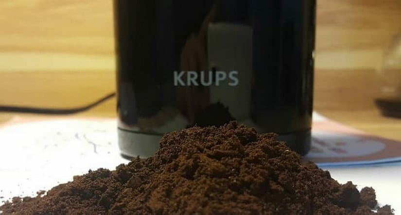 ground coffee example produced by the krups