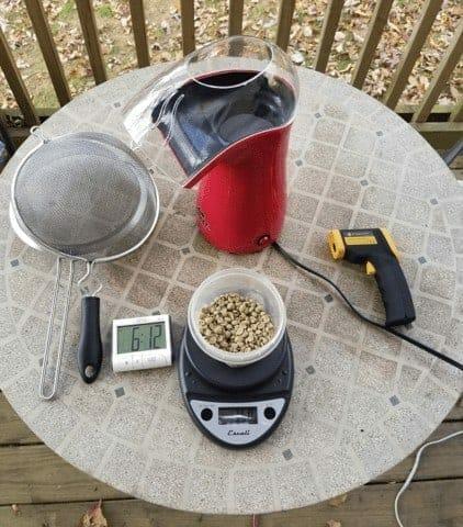 Roasting Coffee in a Popcorn Popper