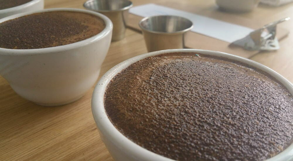 crust on a cup of coffee
