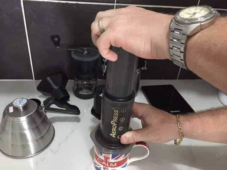 Flipping the Aeropress over