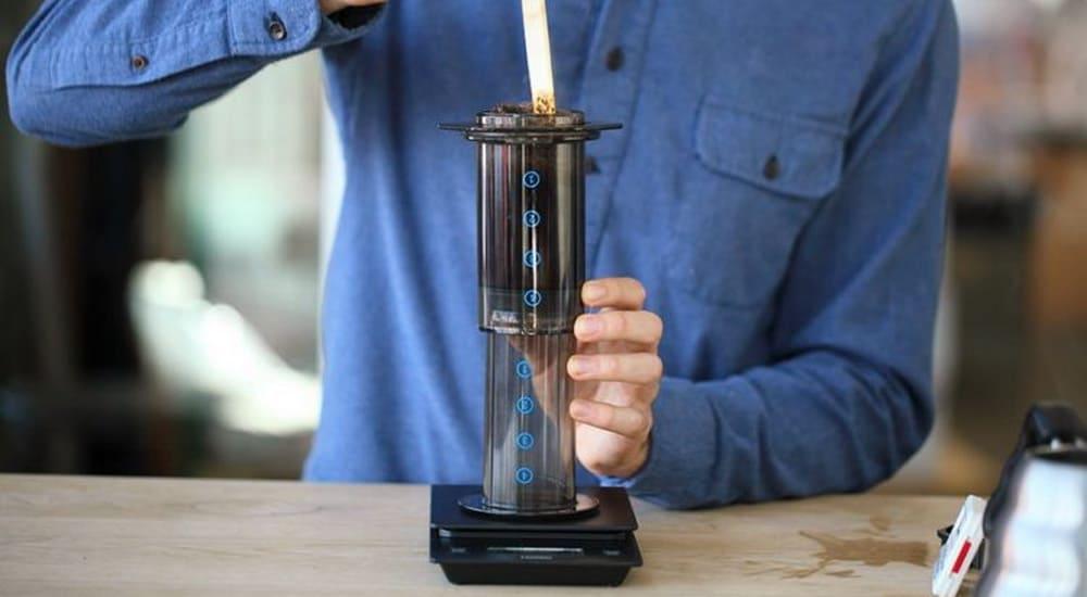 Aeropress inverted brewing