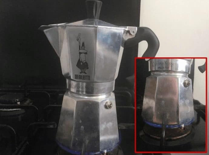 Moka Pot on the stove-top