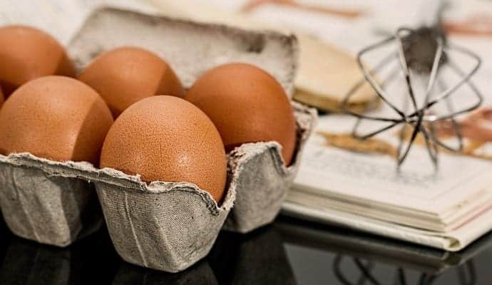 tray of fresh eggs