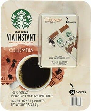 Starbucks VIA Instant Medium Roast Colombia Coffee