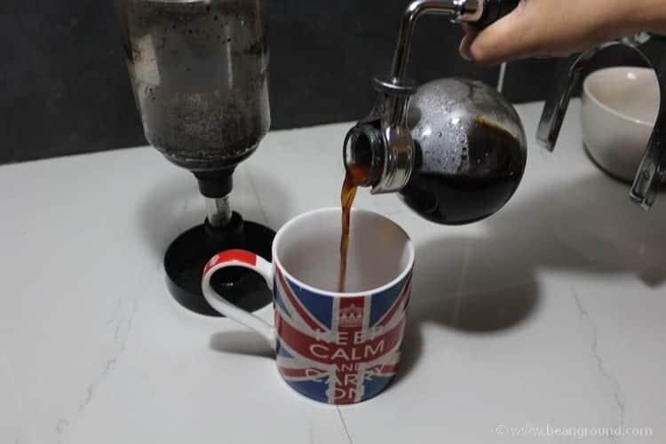 pour into your coffee mug