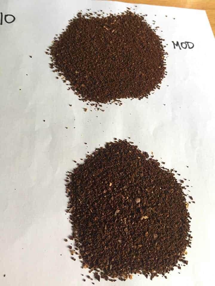 Hario mini mill grind at 10 clicks