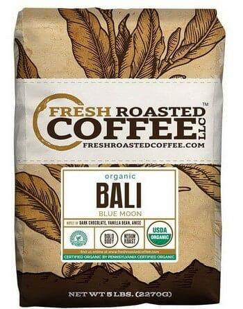 Fresh Roasted Coffee LLC Bali Blue Moon Organic Whole Beans