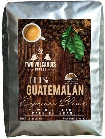 Two Volcanoes Rare Single-Origin Guatemala Whole Bean Coffee