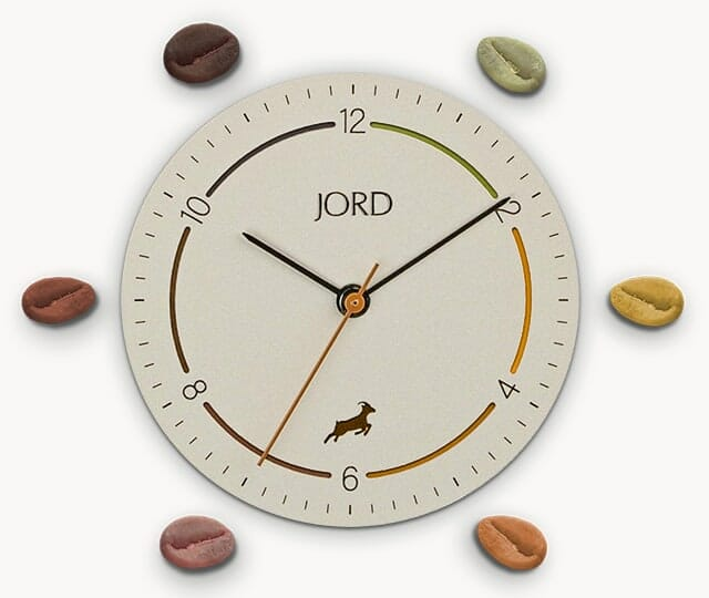 Jord Coffee Watch dial